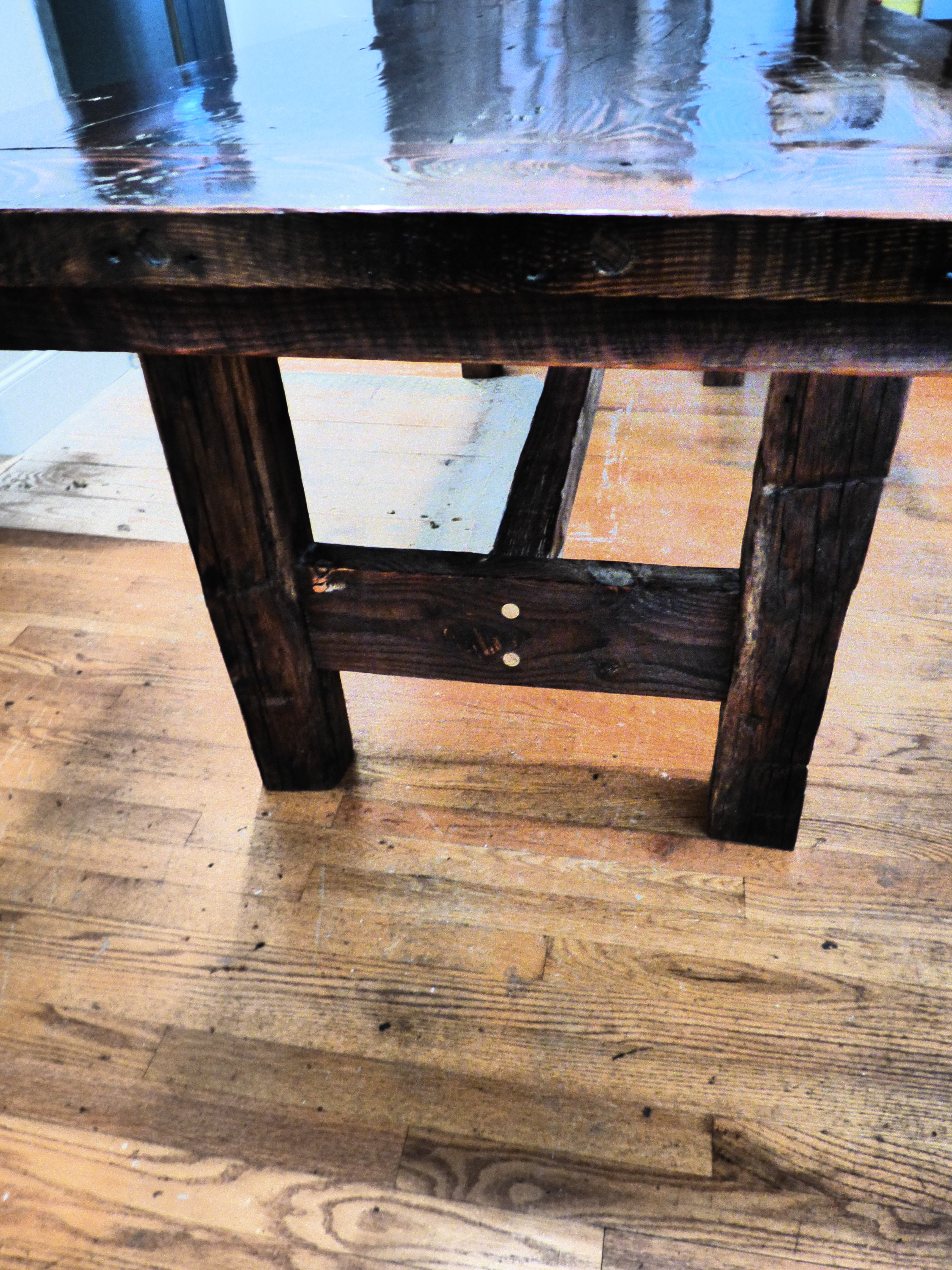 Traditional Elegant Barn Wood Reclaimed Farm House Table